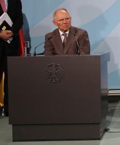 Bundesfinanzminister Wolfgang Schäuble im Kanzleramt