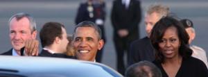 Ankunft des US-Präsidenten Barack Obama und seiner Ehefrau Michelle am Flughafen Tegel, (c) Foto: Frank M. Wagner